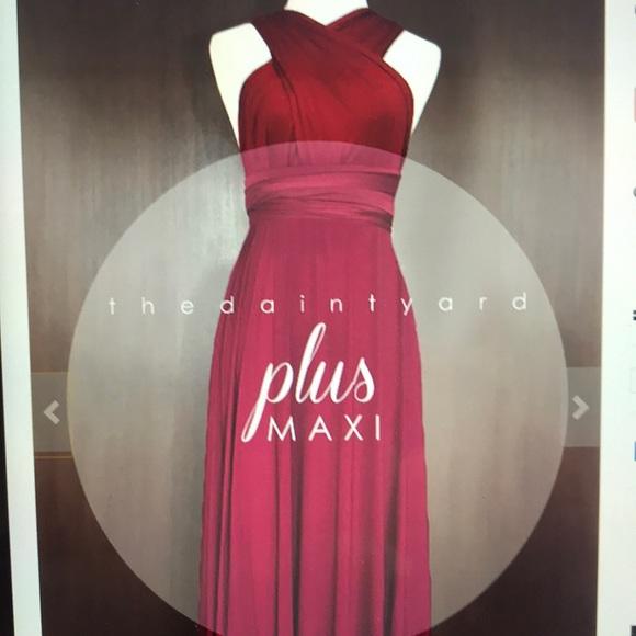 Dresses | Maxi Plus Size Wine Red Infinity Dress | Poshmark